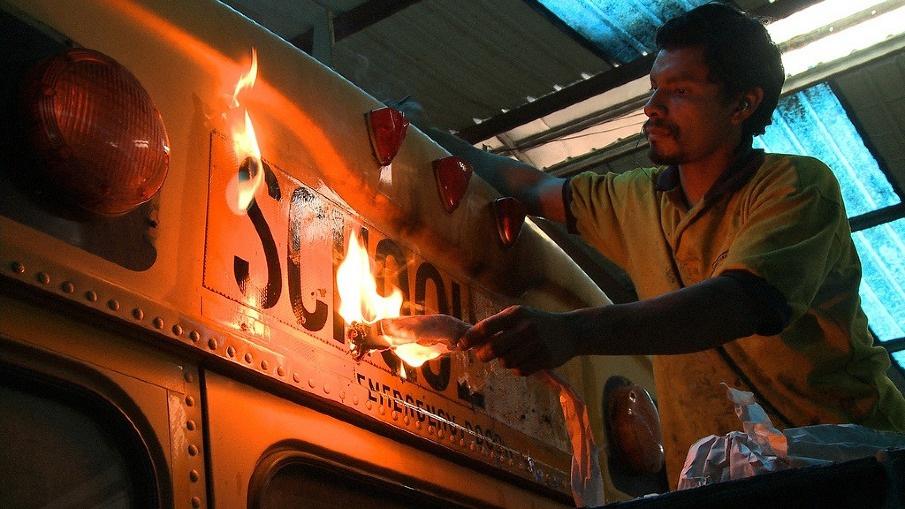 mark kendall la camioneta experimental documentary film still bus transformation